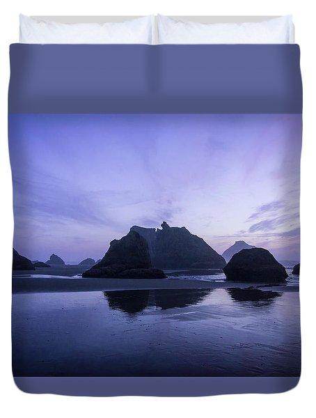 Blue Hour Reflections Duvet Cover