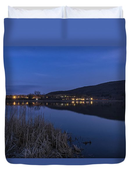 Blue Hour Retreat Meadows Duvet Cover by Tom Singleton