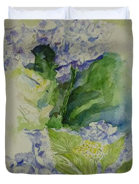 Blue Hydrangea Duvet Cover by Lizzy Forrester