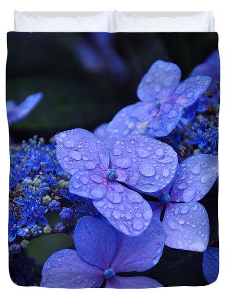 Blue Hydrangea Duvet Cover