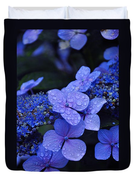 Blue Hydrangea Duvet Cover by Noah Cole
