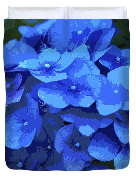 Blue Hydrangea Stylized Duvet Cover