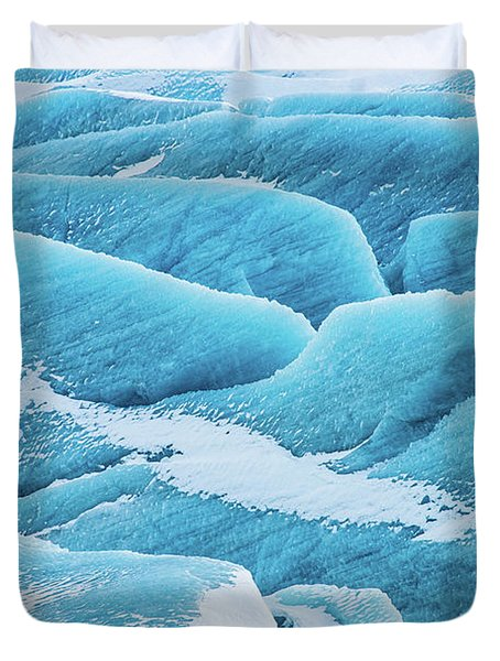 Duvet Cover featuring the photograph Blue Ice Svinafellsjokull Glacier Iceland by Matthias Hauser