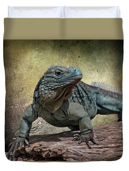Blue Iguana Duvet Cover