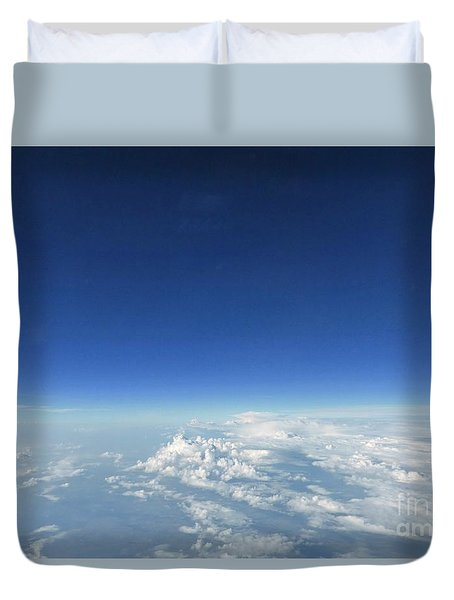 Blue In The Sky Duvet Cover by AmaS Art