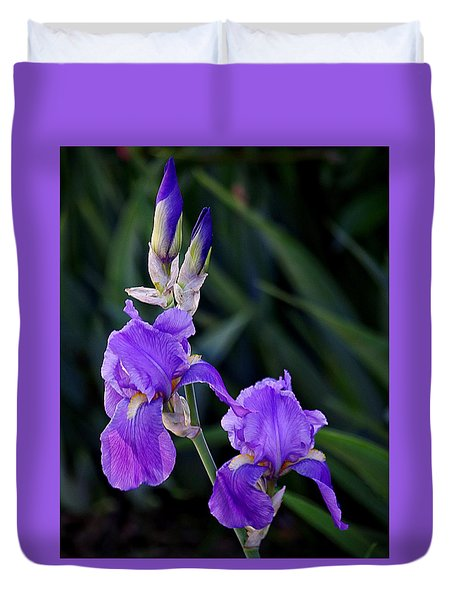 Blue Iris Beauty Duvet Cover