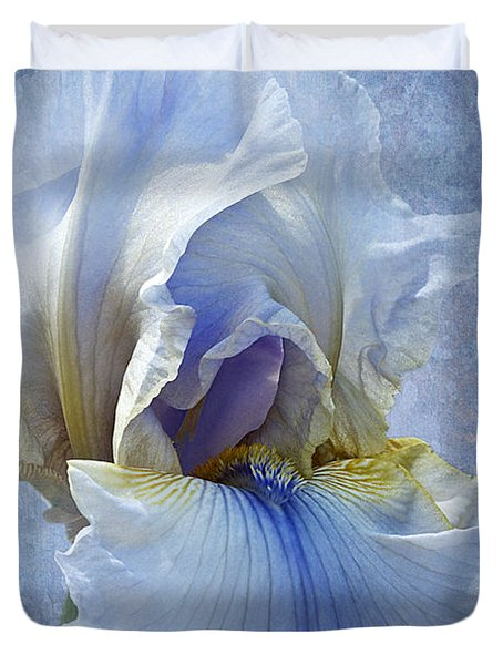 Blue Iris Fog Duvet Cover