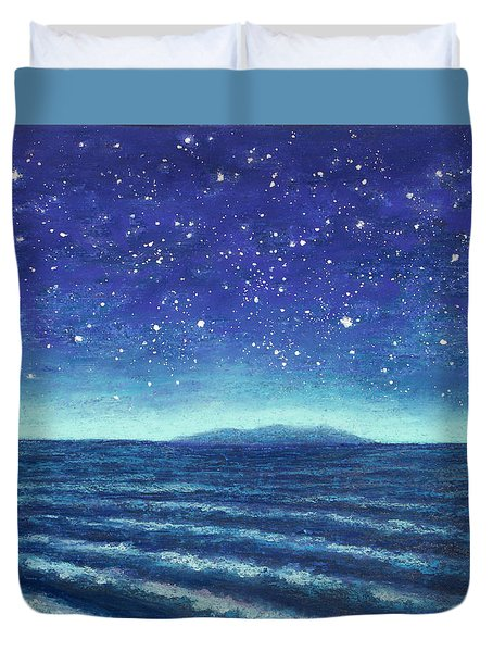 Blue Island 01 Duvet Cover