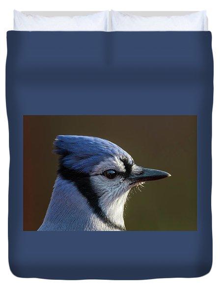 Blue Jay Portrait Duvet Cover