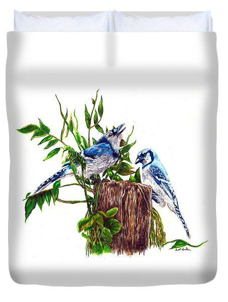 Blue Jays Duvet Cover