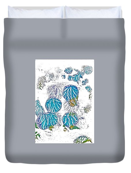 Duvet Cover featuring the painting Blue Kites by Asha Sudhaker Shenoy