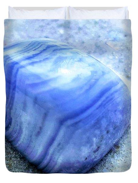 Blue Lace Agate Duvet Cover by Rachel Hannah