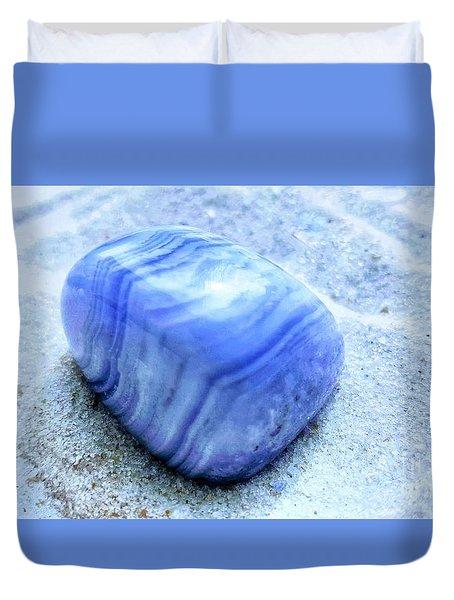 Blue Lace Agate Duvet Cover