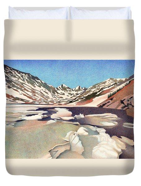 Blue Lakes Colorado Duvet Cover