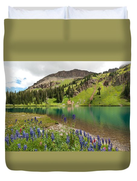Blue Lakes Summer Splendor Duvet Cover