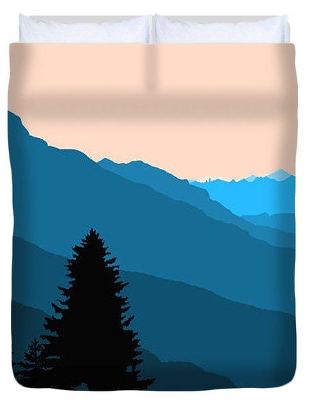 Blue Landscape Duvet Cover