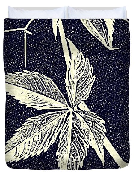Blue Leaf Duvet Cover