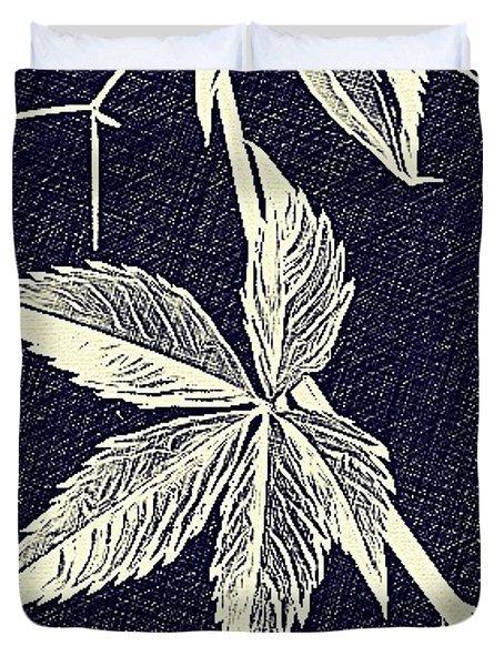 Blue Leaf Duvet Cover