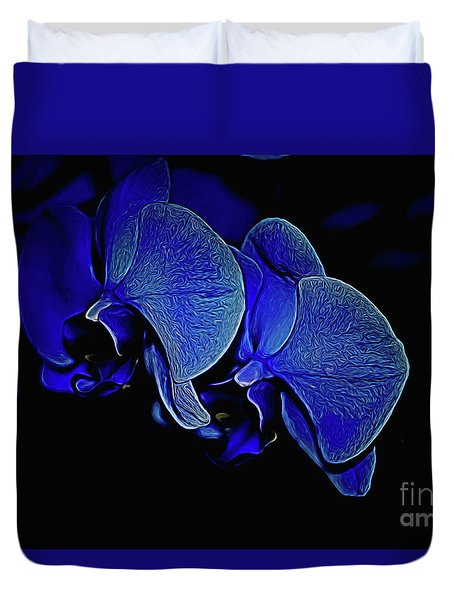 Blue Light Duvet Cover by Diana Mary Sharpton