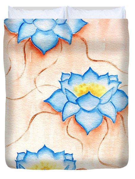 Blue Lilies Duvet Cover
