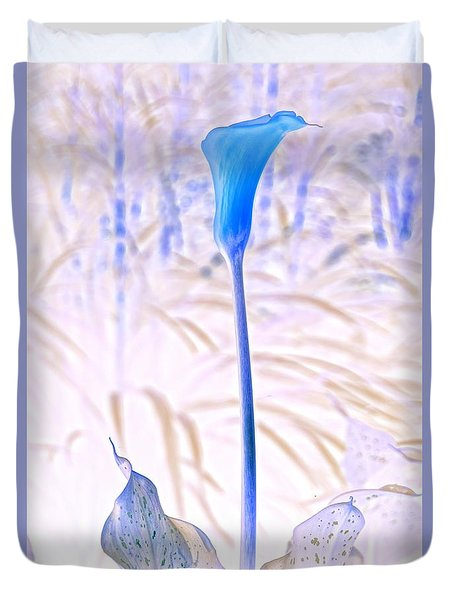 Duvet Cover featuring the photograph Blue Lily 2 by Steven Clipperton