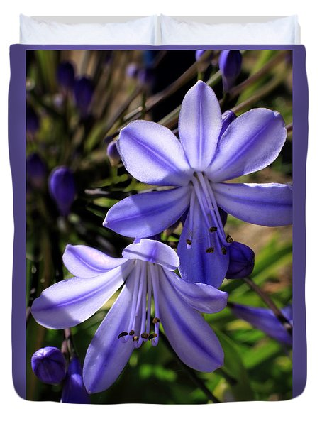 Blue Lily Duvet Cover