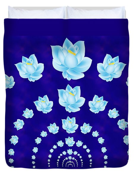 Blue Lotus Tunnel Duvet Cover