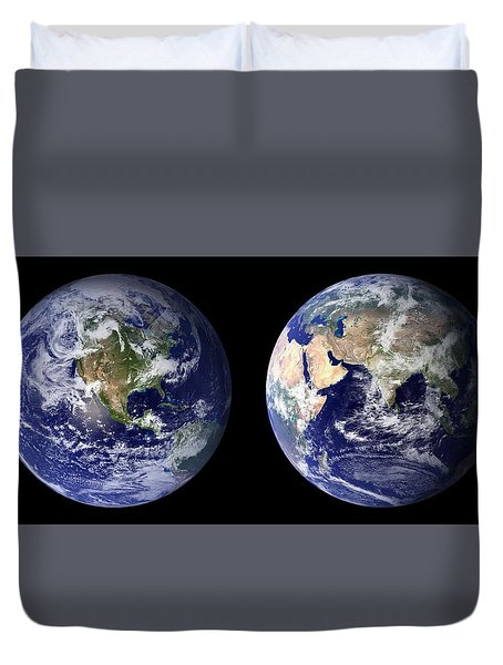 Blue Marble Duvet Cover