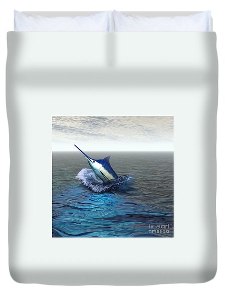 Blue Marlin Duvet Cover by Corey Ford