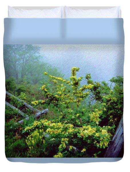 Blue Marsh Dam Fog 003 Duvet Cover by Scott McAllister