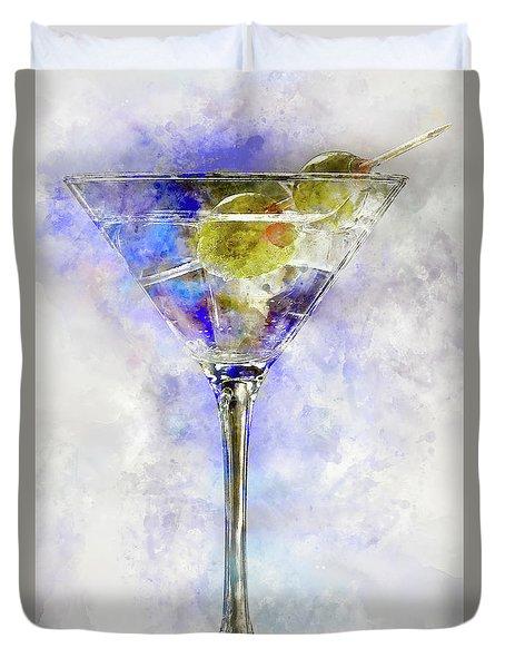 Blue Martini Duvet Cover by Jon Neidert
