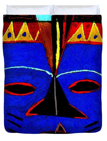 Blue Mask Duvet Cover