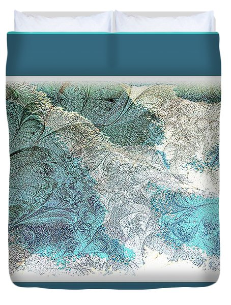 Duvet Cover featuring the photograph Blue Maze by Athala Carole Bruckner