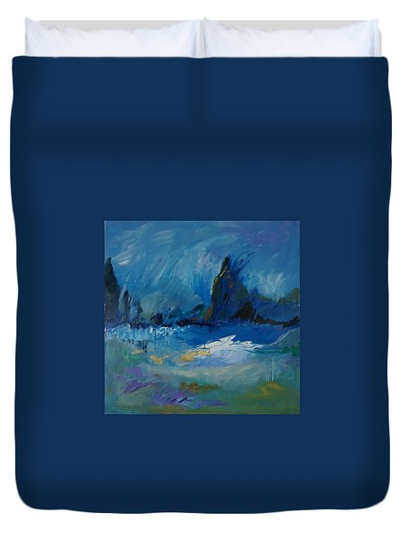 Blue Meadow Duvet Cover