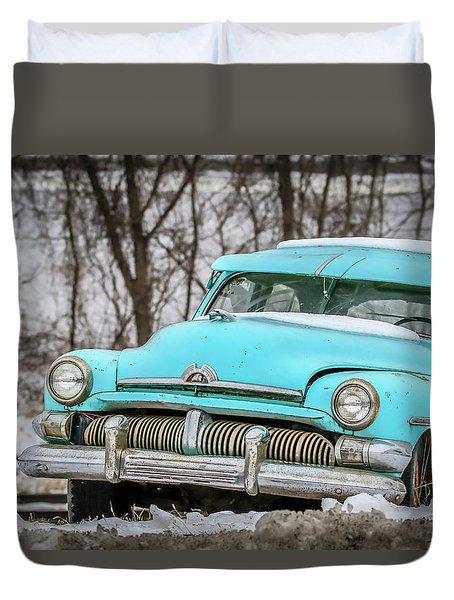 Blue Mercury Duvet Cover