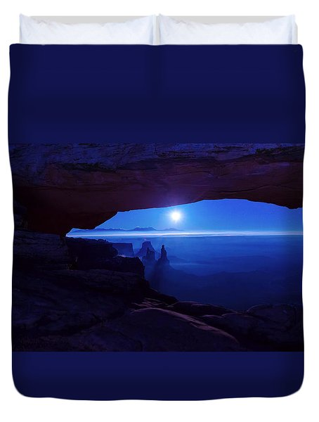 Blue Mesa Arch Duvet Cover by Chad Dutson