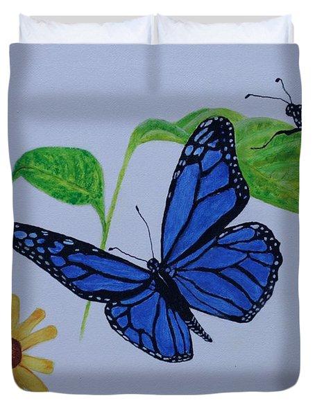 Blue Monarch Duvet Cover