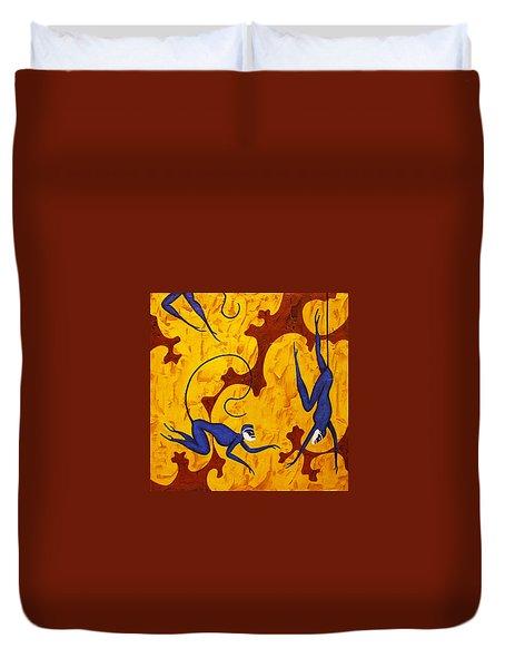 Blue Monkeys No. 45 Duvet Cover