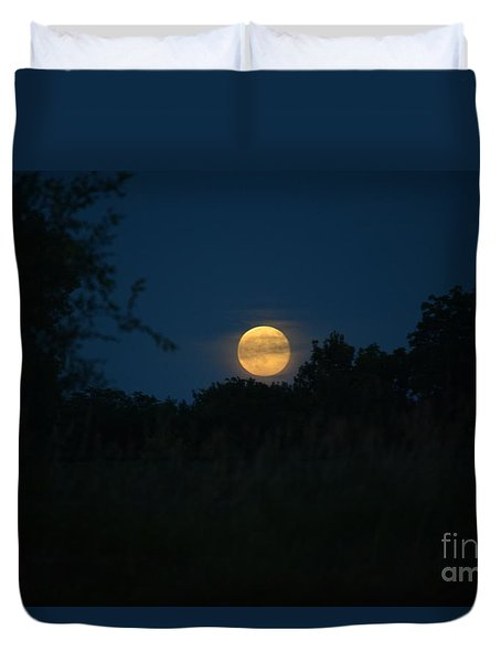 Duvet Cover featuring the photograph Blue Moon 2015 by Mark McReynolds