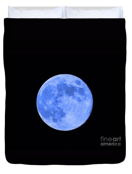 Blue Moon Close Up Duvet Cover by Al Powell Photography USA