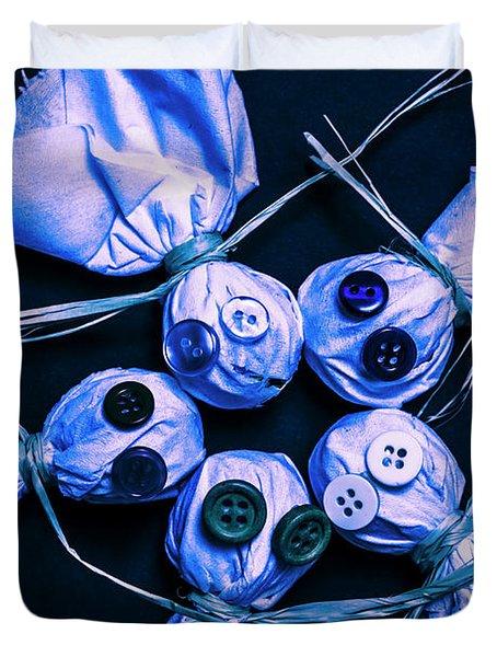Blue Moon Halloween Scarecrows Duvet Cover