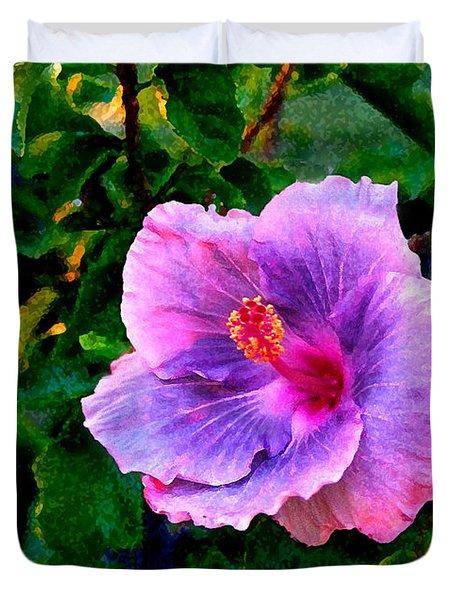 Blue Moon Hibiscus Duvet Cover by Steve Karol