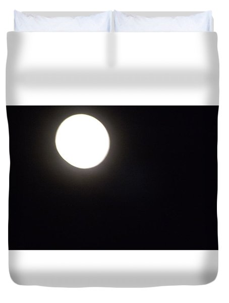 Blue Moon In July Duvet Cover