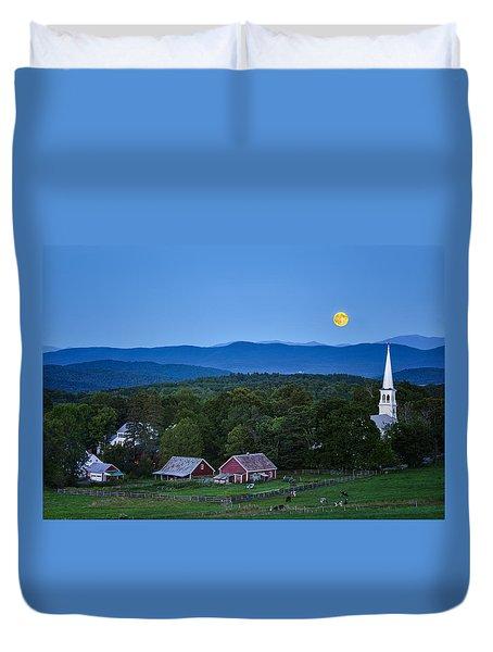 Blue Moon Rising Duvet Cover