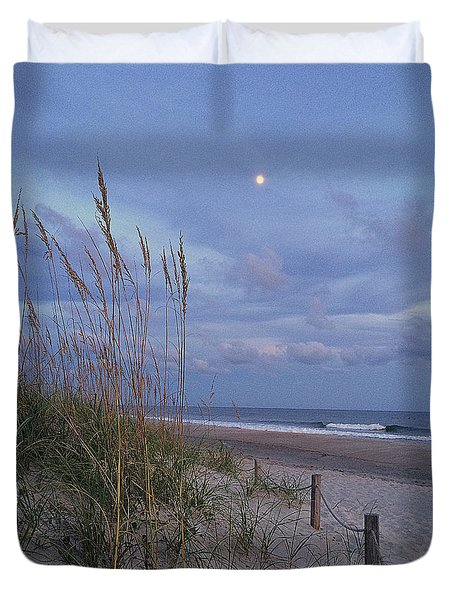 Duvet Cover featuring the photograph Blue Moon by Shelia Kempf