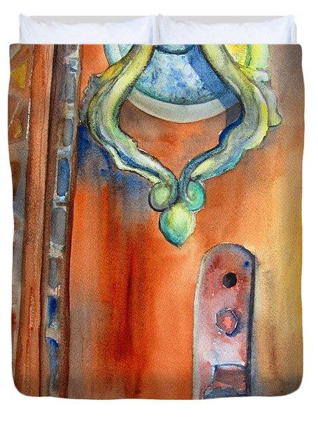 Blue Mosque Door Duvet Cover