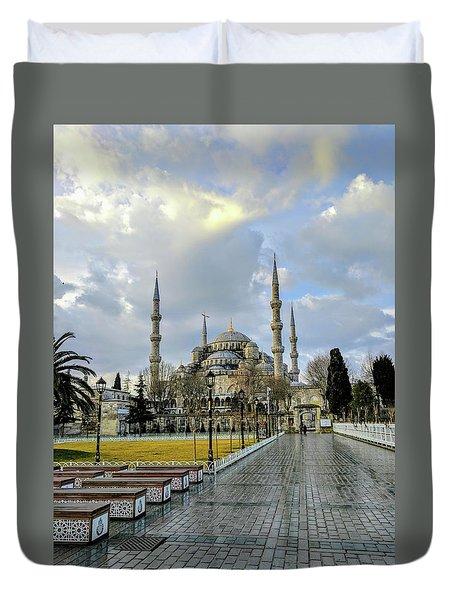 Blue Mosque Duvet Cover