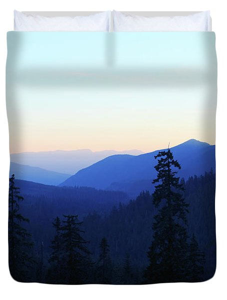 Blue Mountain Layers Duvet Cover