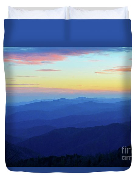 Blue Mountain Majesty Duvet Cover
