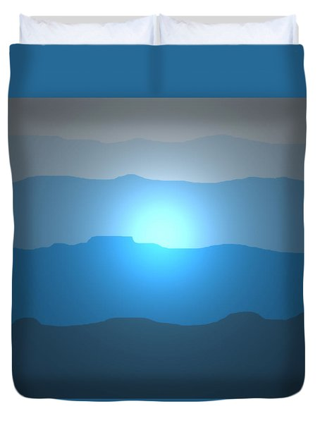 Blue Mountain Sun Duvet Cover